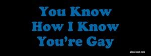 You Know How I Know You Re Gay Meme - funny gay quotes for facebook quotesgram