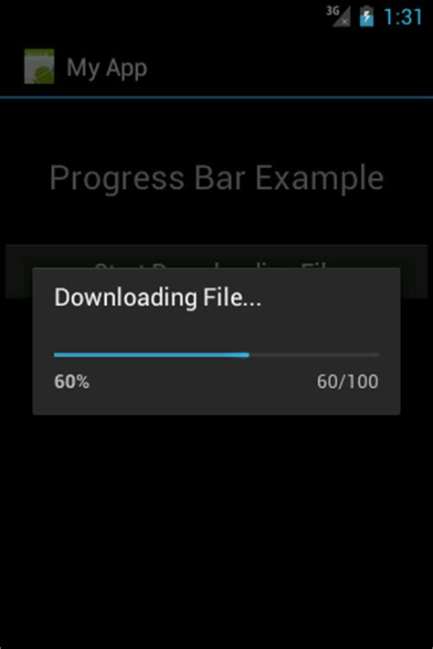 android progress bar android tutorials for beginners android progressbar exle