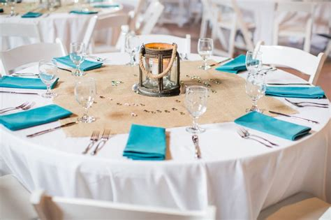 Turquoise Napkins On Rustic Dining Table Projects To Try Rustic Turquoise Dining Table
