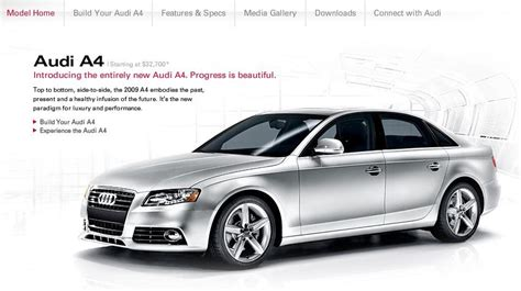 Audi Official Website by Wheels Weekly New B8 Audi A4 On Us Official Website