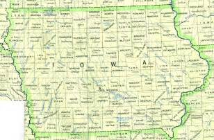 iowa outline maps and map links