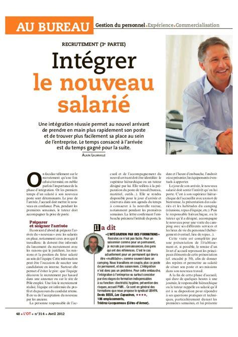 Lettre De Presentation Nouveau Collaborateur Recrutement 3 Int 233 Grer Le Nouveau Salari 233
