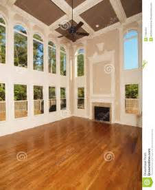 home interior image model luxury home interior living room windows stock photo