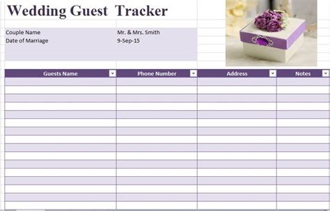 guest list template wedding 35 beautiful wedding guest list itinerary templates