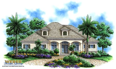 olde florida house design manor home plan