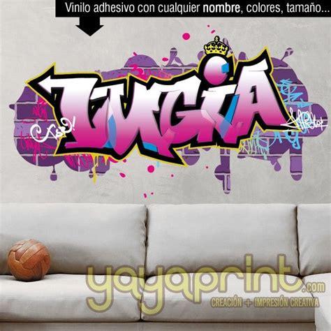 graffiti nombre lucia vinilo chica pared decorar  en