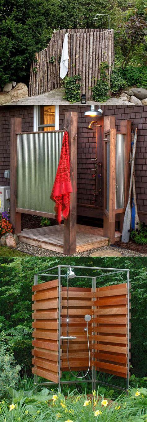 outdoor shower ideas 16 diy outdoor shower ideas a of rainbow