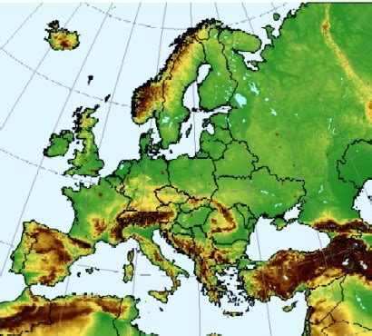 europe elevation map pin europe elevation map on