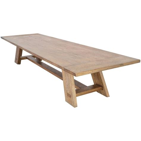 custom banquet table in vintage white oak for sale at 1stdibs
