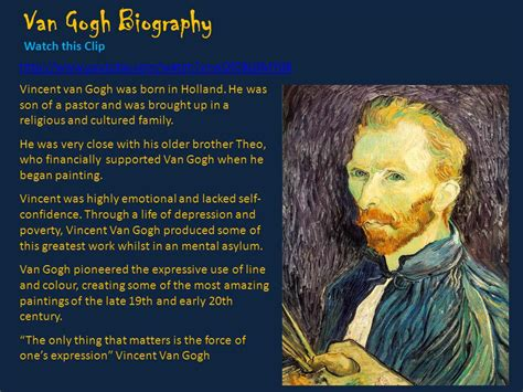 biography of vincent van gogh vincent van gogh the starry night van gogh painted starry
