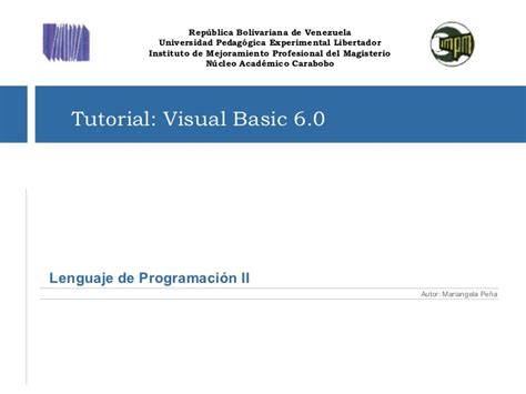 tutorial visual basic net tutorial de visual basic 6 0