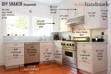 kitchen cabinets price list cost of semihandmade ikea doors company that makes semi