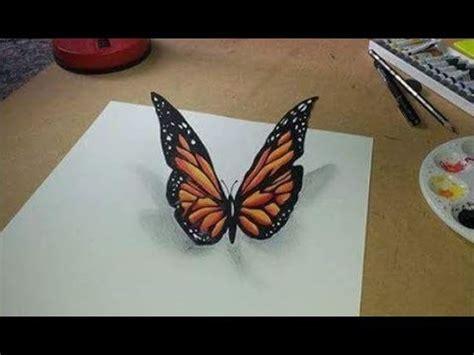 borboletas em 3d youtube desenhando borboleta 3d pintura em aquarela 3d 449