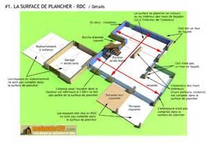 surface de plancher illustration sur un projet de