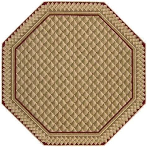 octagonal area rugs nourison vallencierre camel 8 ft octagon area rug 376633 the home depot