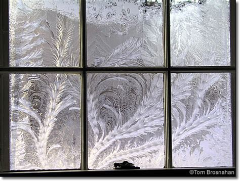 frost on inside of windows in house frost feathers concord massachusetts