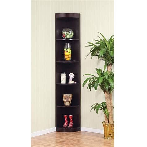 Black Corner Shelf Unit by Corner 5 Shelf Display Stand For The Home