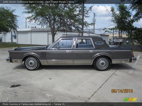 1982 lincoln continental vi 1982 lincoln continental vi sedan in pewter
