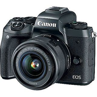 canon eos m5 with ef m 15 45mm is stm lens kit: buy canon