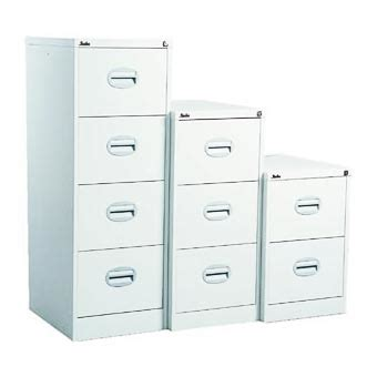 Silverline Kontrax 2 Drawer Filing Cabinet White