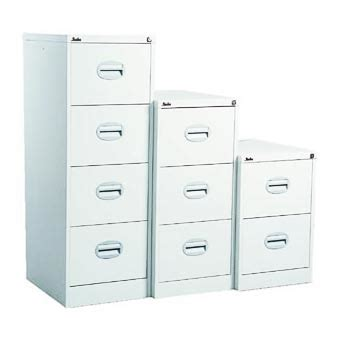 4 Drawer White Filing Cabinet