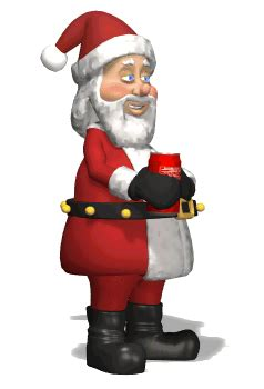 animated santa gif christmas animations pinterest