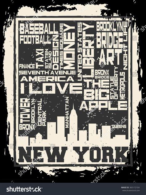 label design nyc new york city concept logo label stock vector 365172104
