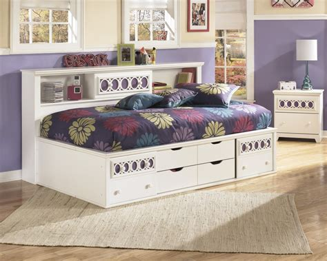 twin bed with side headboard zayley twin bookcase side rails b131 82 bed frame