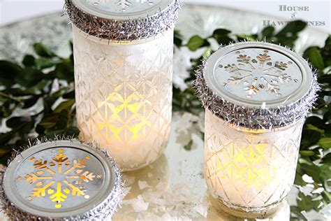 christmas crafts wirh mason jars jar luminarias house of hawthornes