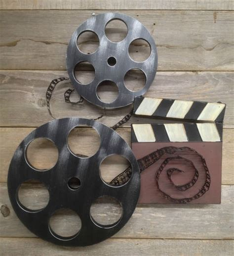 stupendous home theater wall decor plaques signs large home cinema theatre movie reels wall plaque sign tv