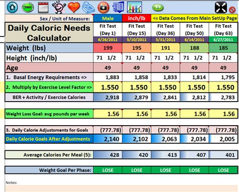 calorie calculator excel spreadsheet workout tracker tool nutrition guide manager for insanity