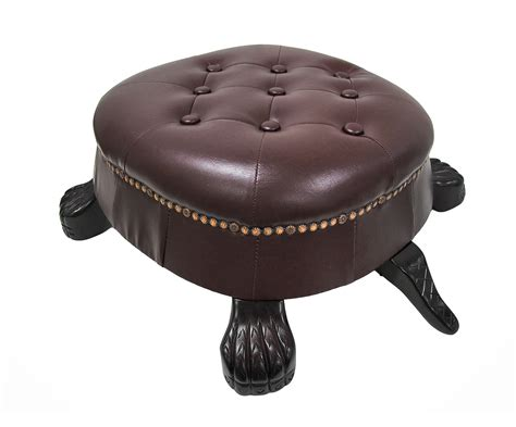 Ottoman Foot Stool by Walnut Finish Turtle Ottoman Foot Stool Ebay