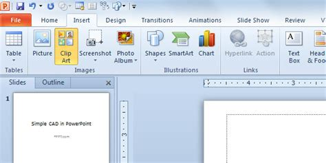 Cad In Powerpoint 2010 Insert Template Powerpoint