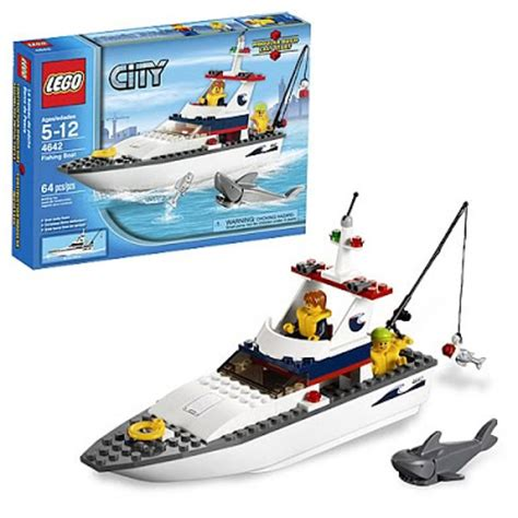 lego boat and shark lego city fishing boat 4642 lego city fishing boat 4642
