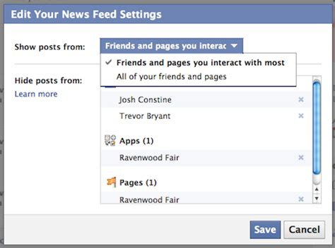editing facebook layout want to see all posts from friends on facebook web