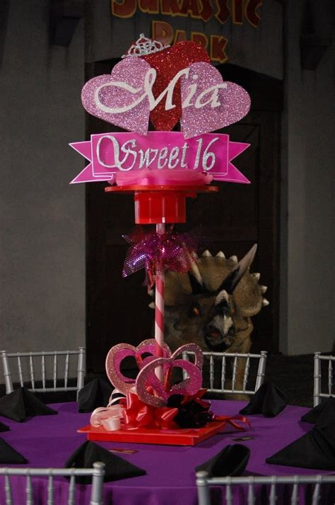 mia sweet 16 centerpiece centerpices pinterest