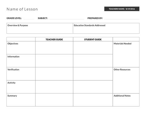 teacher planning book template luxury excel lesson plan template