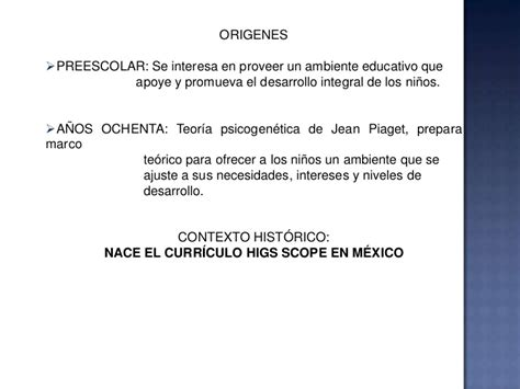 Modelo Curriculum High Scope High Scope