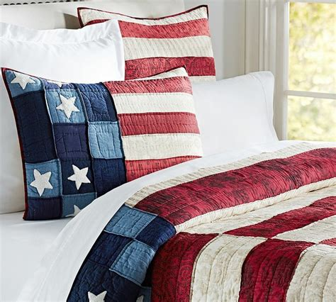 patriotic bedding red white blue bedding