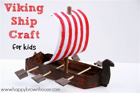 How To Make A Viking Longship Out Of Paper - viking ship craft for
