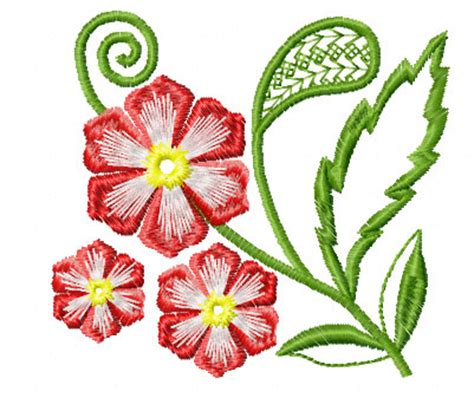 embroidery design in flower 4 hobby com machine embroidery designs flowers