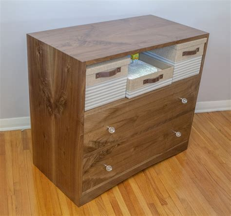 Matt Cremona Walnut Changing Table Walnut Changing Table