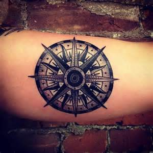 Neo traditional compass tattoo compass tattoo by matt houston design