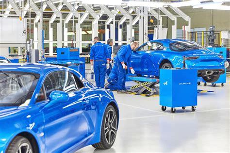 renault introduces alpine  production   dieppe france