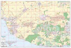 ventura county ca wall map by brothers maps