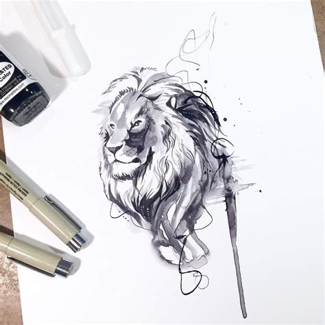 White Ink Drawing