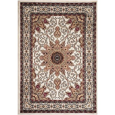 Persian Rugs Ivory Burgundy Green Beige 5x7 5 2x7 2 Black 5x7 Area Rug