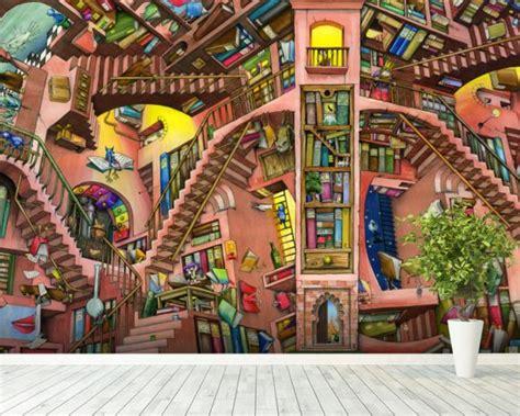 Library Wall Mural library wall mural amp library wallpaper wallsauce