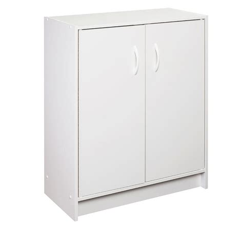 closetmaid 24 in w x 32 in h white stackable 2 door