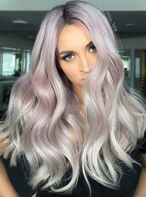lilac hair color 50 bold pastel and neon hair colors in balayage and ombre